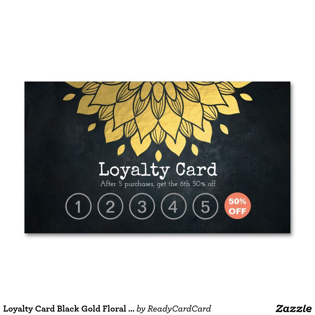 Loyalty card black gold floral makeup hair stylist business card loyalty card black gold floral makeup hair stylist business card reheart Image collections