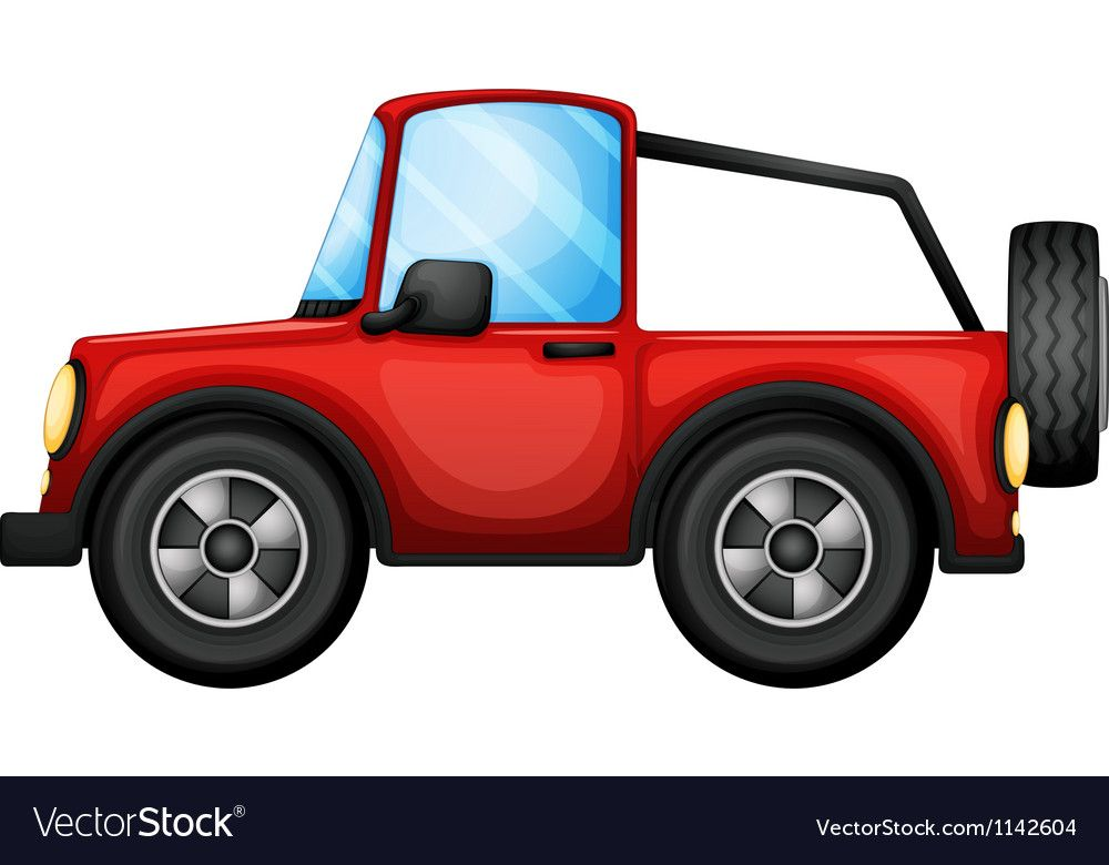 A red car Royalty Free Vector Image - VectorStock ,
