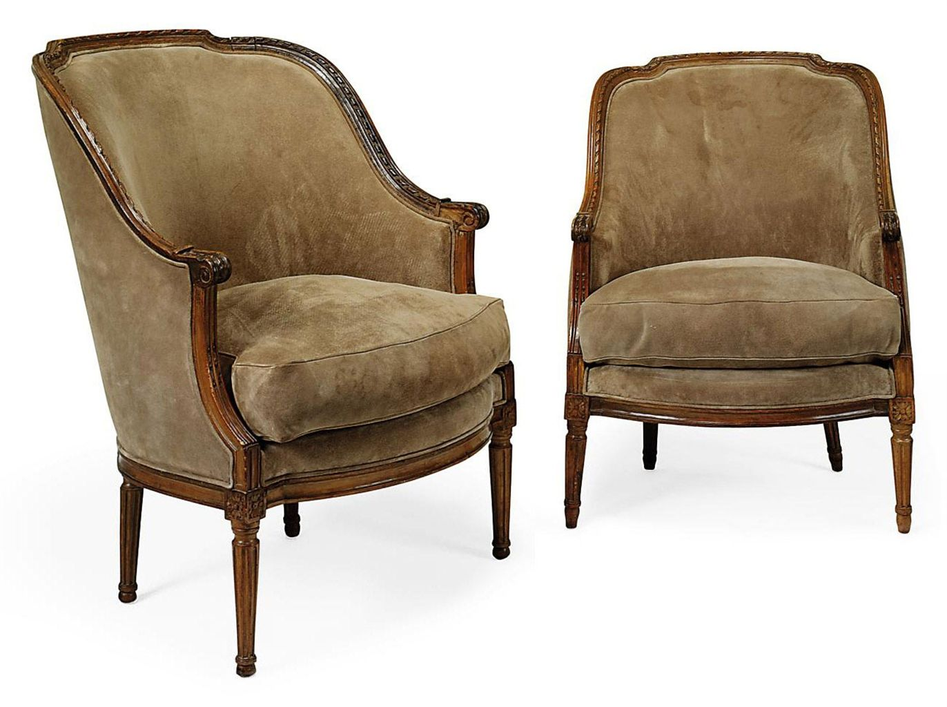 Meuble Bergère A Pair Of Louis Xvi Walnut Bergeres By J B Boulard Circa