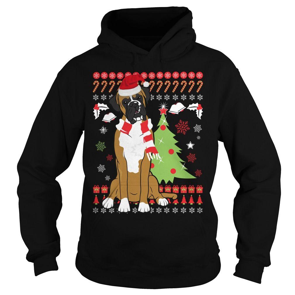 BOXER DOG CHRISTMAS UGLY SWEATER