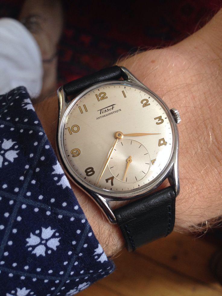 8be0326db02  vintage  Tissot  watch  1954 Source  instagram  soenes  www.instagram.com soenes  - watches