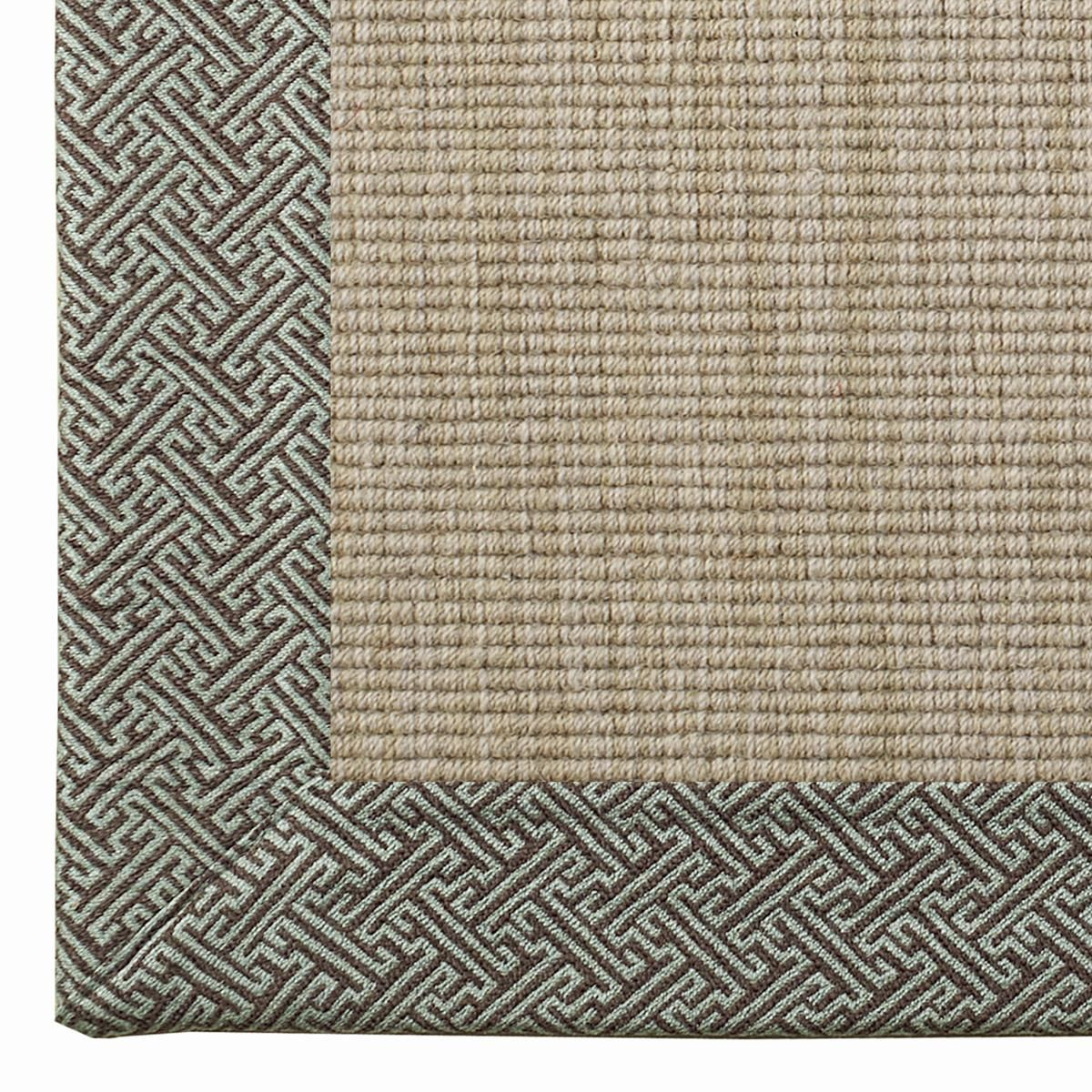 Geometric Border Wool Sisal Rug 4 Colors For The Home