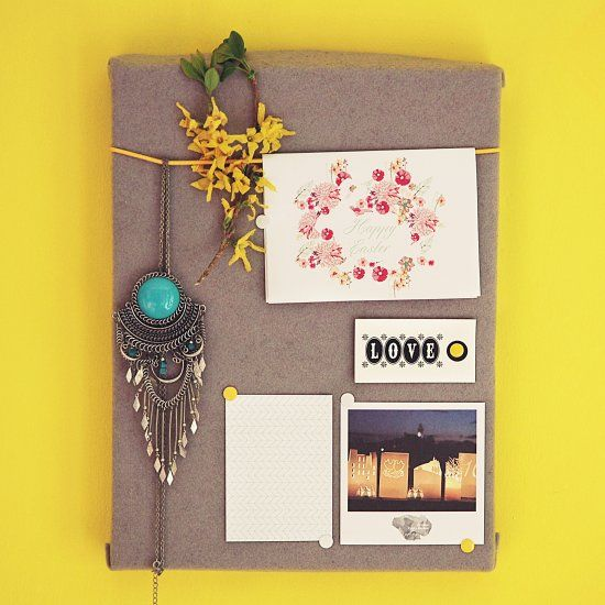 We'll make a cute DIY Pin board using shoes or men's shirt box lids. Well, any box you have will do the job.