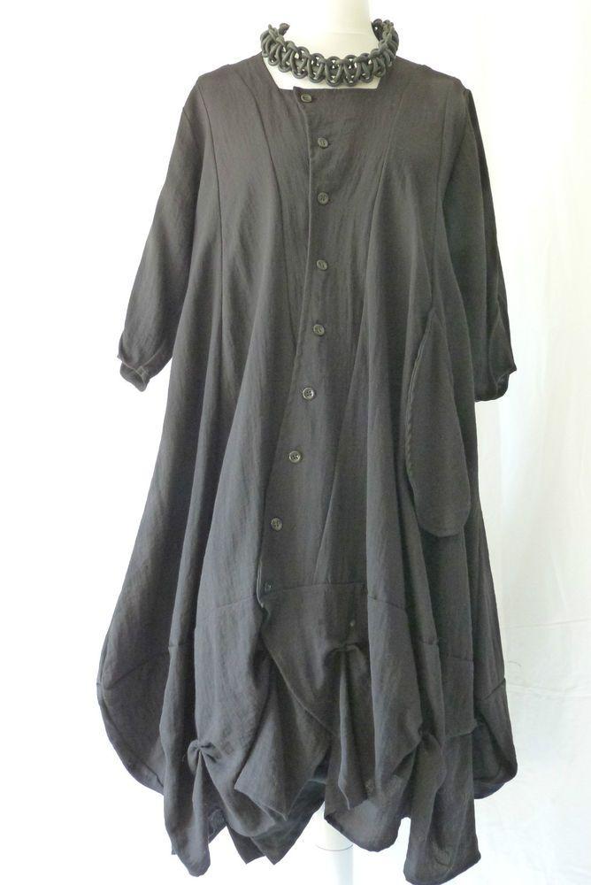 b07083069bd1 Details about GERMAN CHAMPAGNE LAGENLOOK PARACHUTE DRESS SZ L XL ...