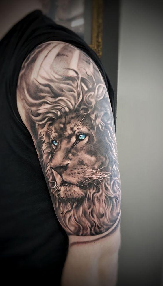 Lion Arm Sleeve : sleeve, Tattoo,, Covering,, Tattoo, Sleeve,, Sleeves