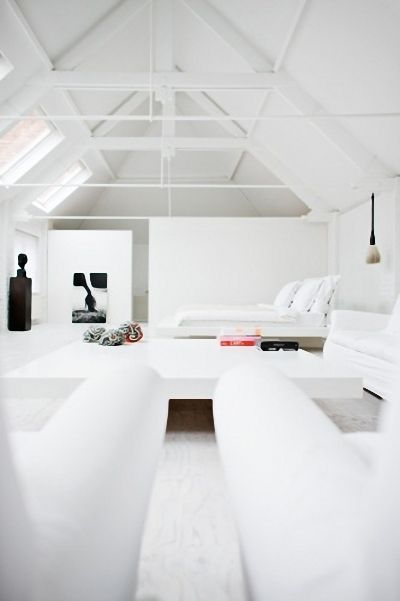 All White Loft Space