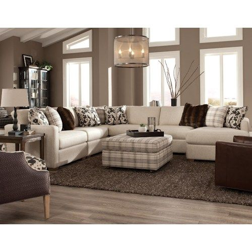 Best 751100 Five Piece Sectional With Raf Chaise By Craftmaster 400 x 300