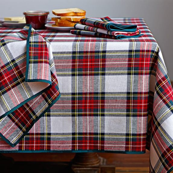 Marvelous Classic Stewart Tartan Tablecloth