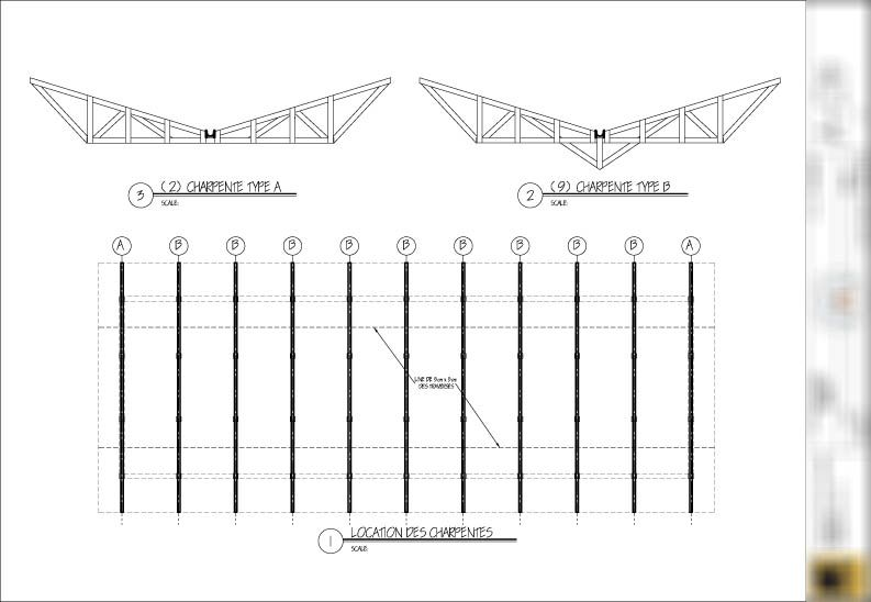 Drawing Diagram Showing Truss Locations Butterfly Roof Roof Detail Roof Architecture