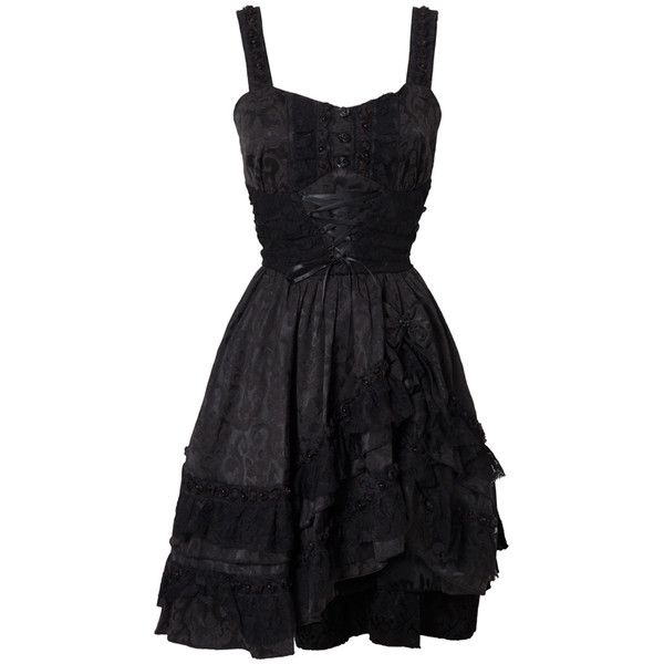Gothic Lace Dress (£50) ❤ liked on Polyvore