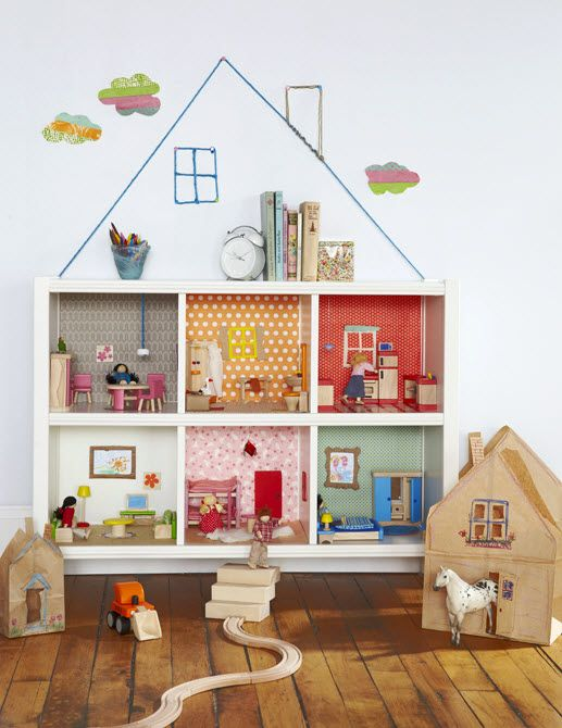 fabrication maison de poupee etagere brico maison Pinterest