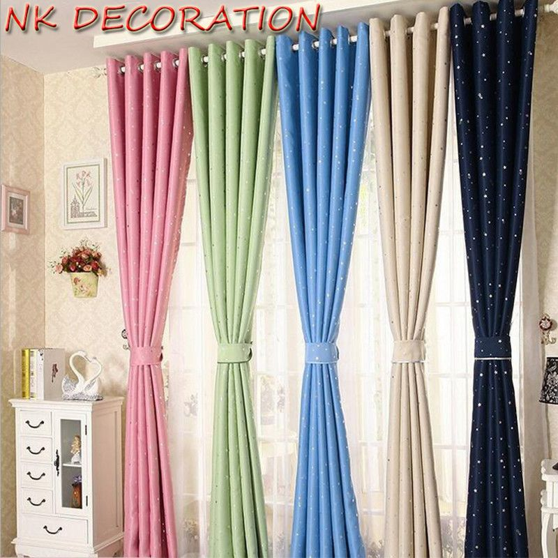 Kids Bedroom Curtains Enchanting Click To Buy  Nk 100X250Cm Luxury Modern Star Kids Child Bedroom Design Decoration