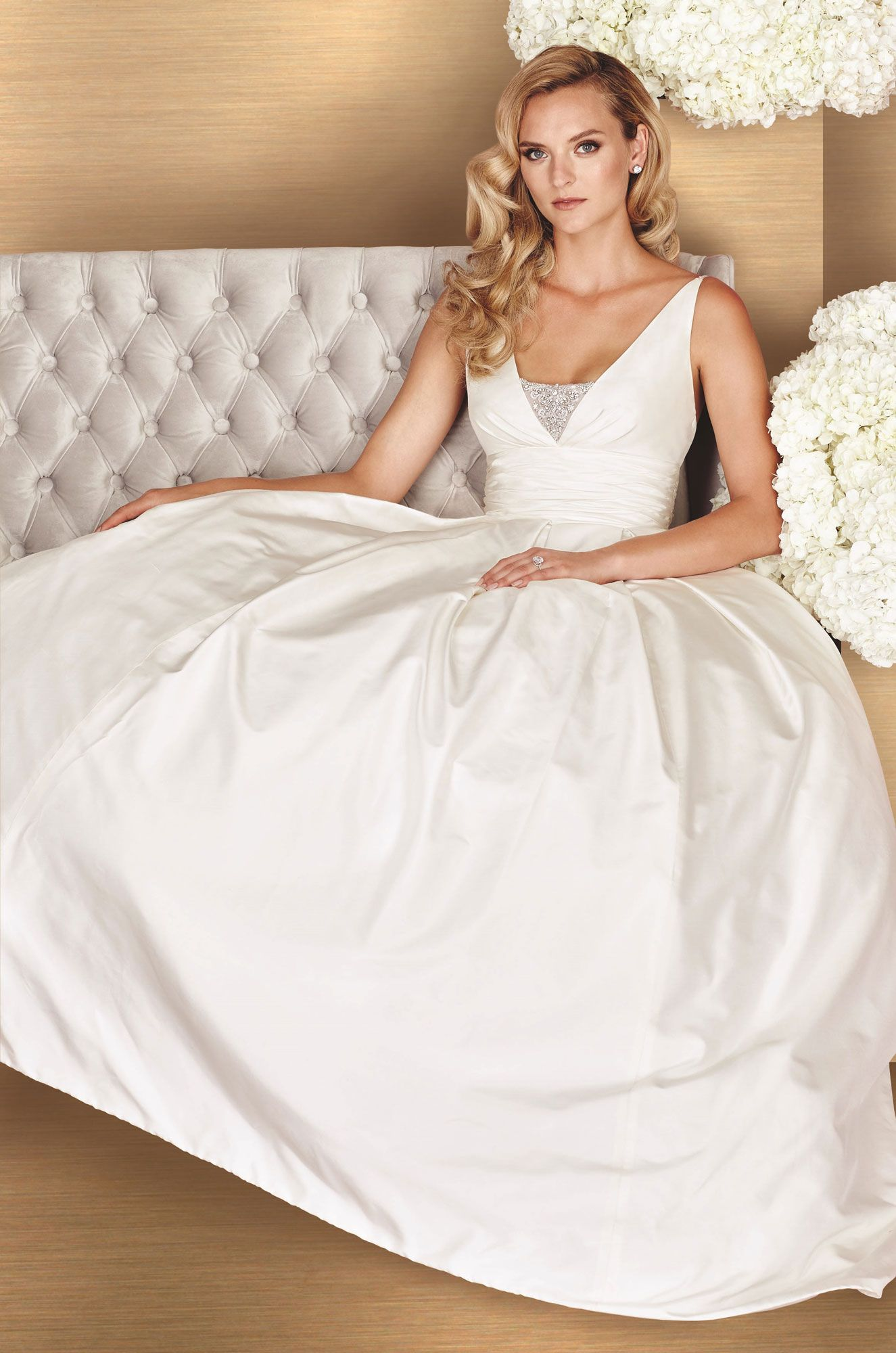 Cathedral wedding dress  Full Skirt Wedding Dress  Style   Paloma blanca Wedding