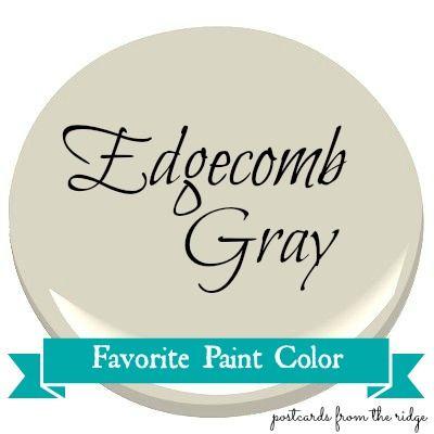 Favorite Paint Color ~ Benjamin Moore Edgecomb Gray