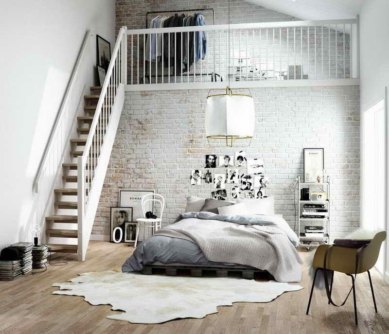 cama de matrimonio loft nrdico