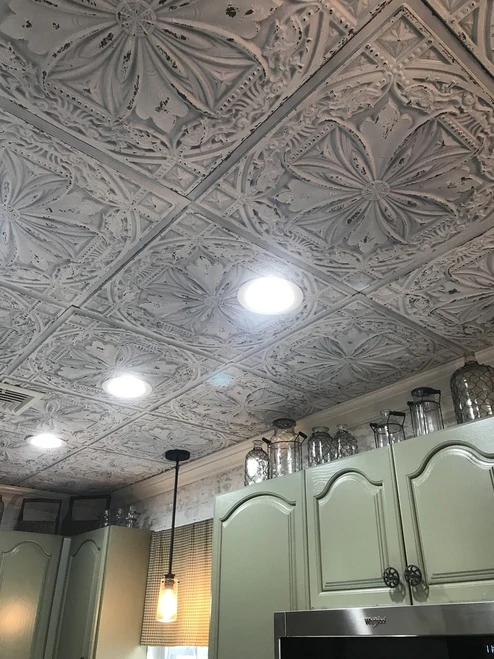 Milan Faux Tin Ceiling Tile 24 In X 24 In Dct 10 Faux Tin