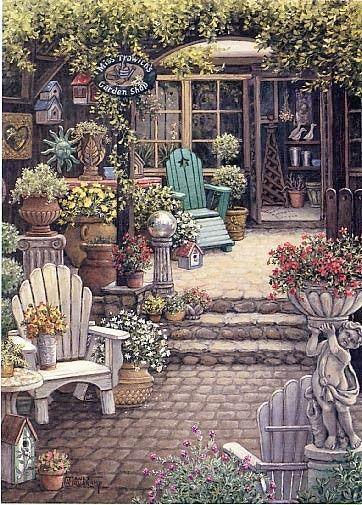 Salon de jardin salon de jardin peindre un tableau Peinture salon de jardin