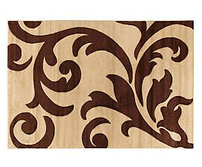 Tappeto effetto floreale Palace beige/marrone - 160x230 cm