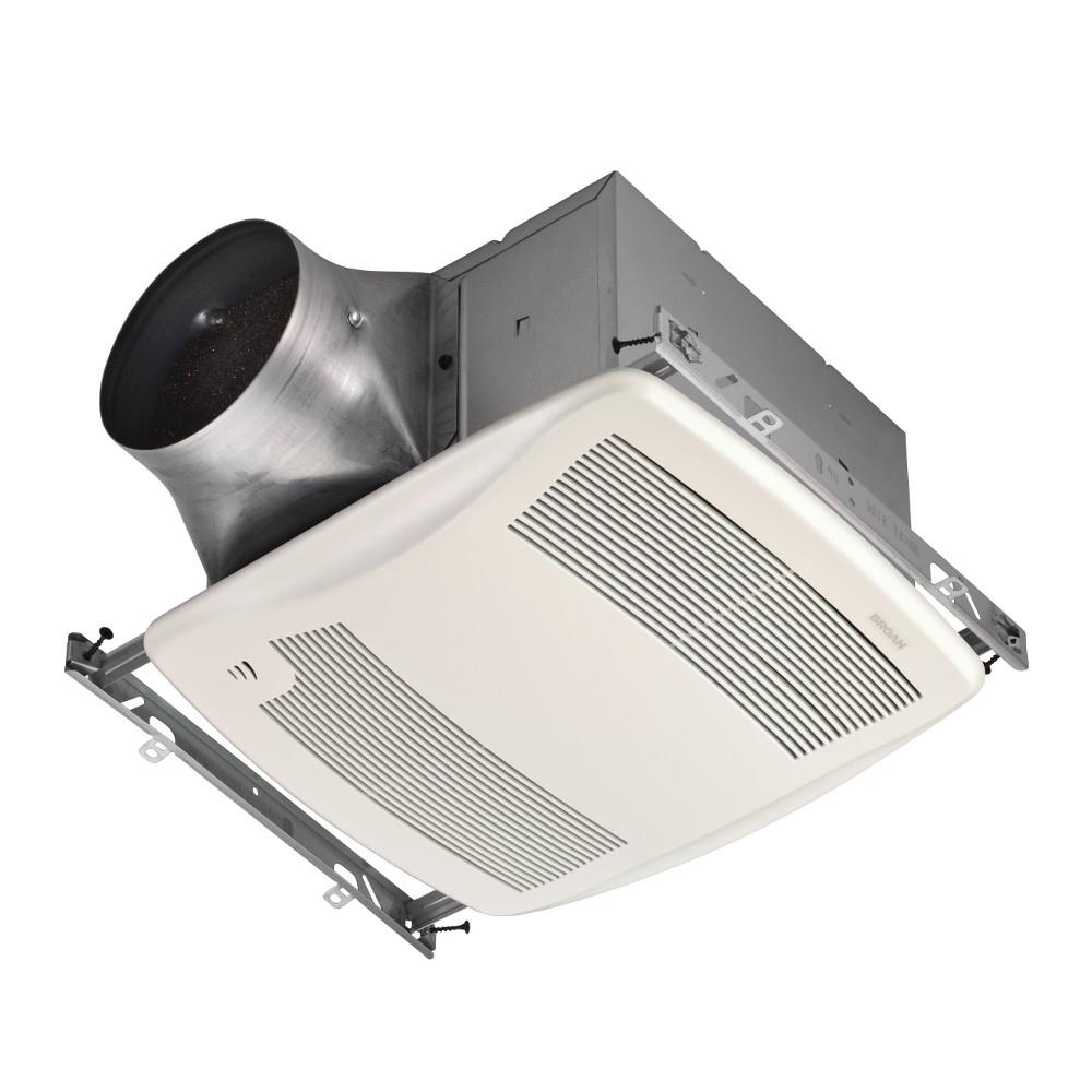 Broan Ultra Green Zb Series 110 Cfm Multi Speed Ceiling Bathroom Exhaust Fan With Humidity Sensing Energy Star White Products Bathroom Exhaust Fan Bath