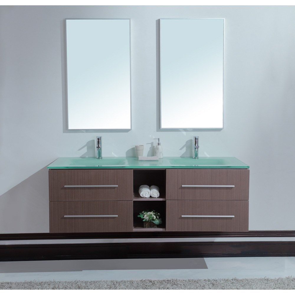 Calypso 60 Inch Modern Double Sink Bathroom Vanity  Bathroom Captivating Modern Bathroom Vanity Design Decoration