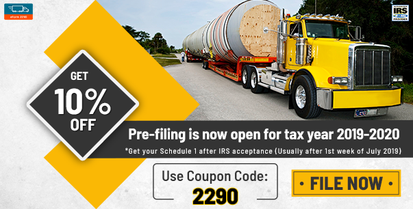 2290 form fee  IRS Heavy Vehicle Use Tax | eForm15 Coupons | Irs forms ...