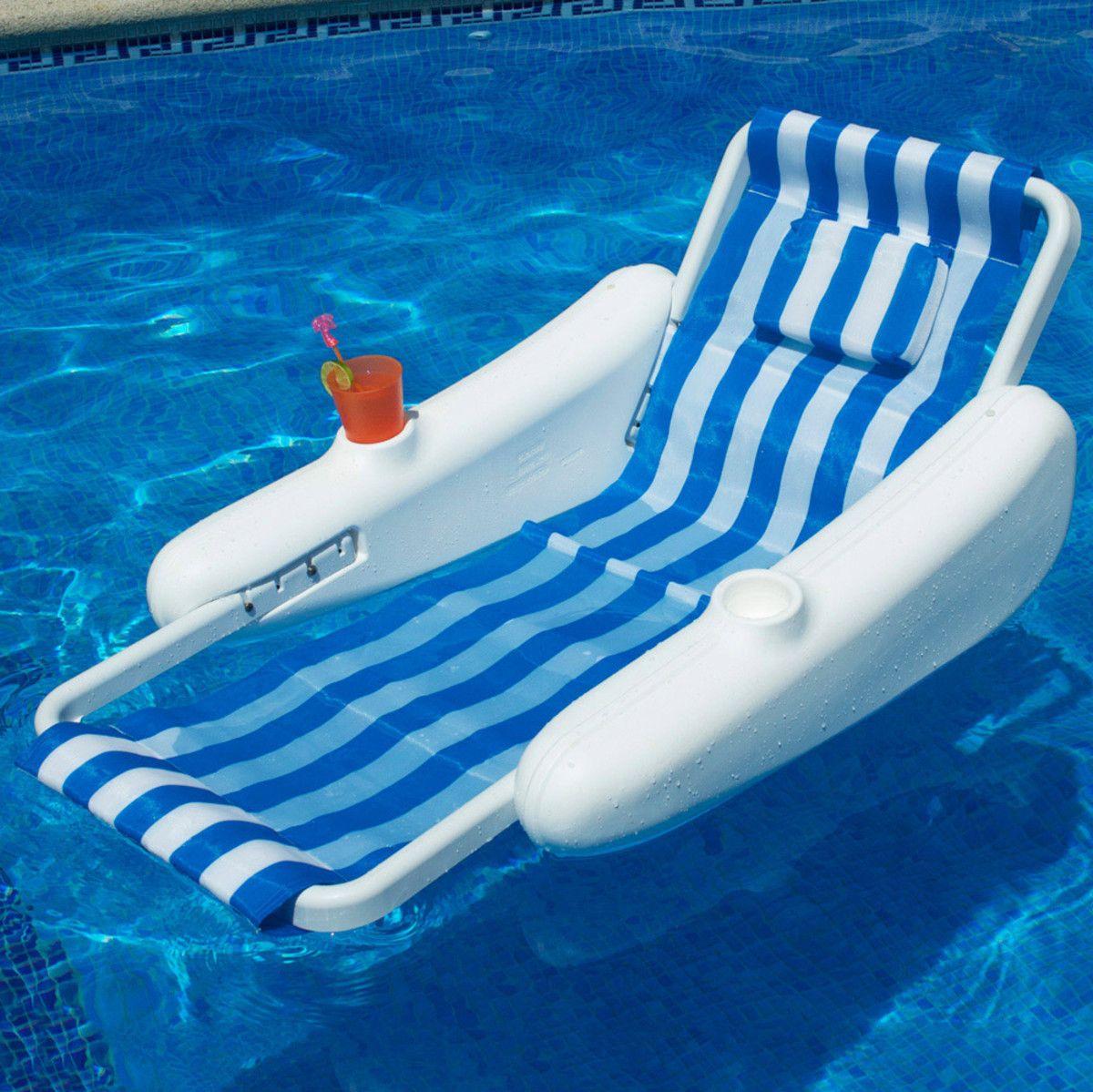 Swimline Sunchaser Sling Floating Lounge Floating Lounge Pool Floats Inflatable Pool Floats
