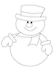 graphic regarding Snowman Template Printable referred to as tracing-no cost-printable-worksheets-snowman логопедия