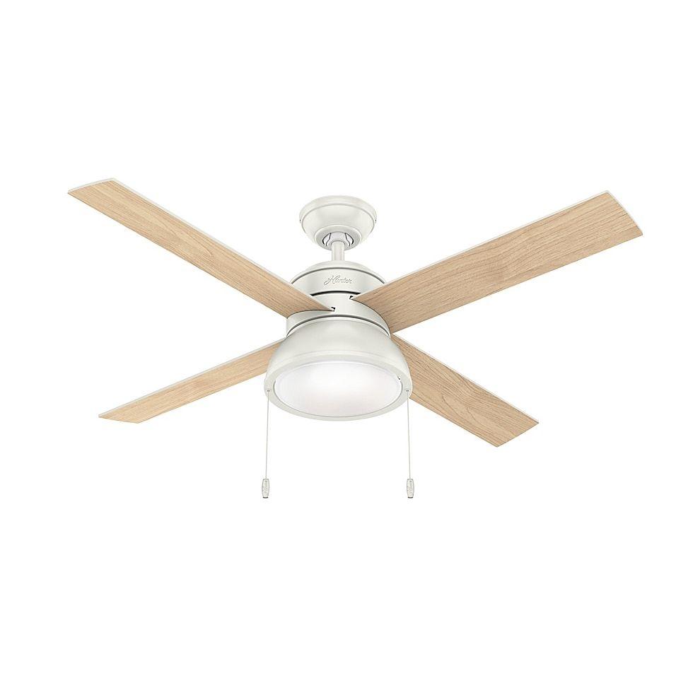 Hunter Loki Ceiling Fan With Led Light Kit Bed Bath Beyond In 2021 Ceiling Fan With Light White Ceiling Fan Ceiling Fan