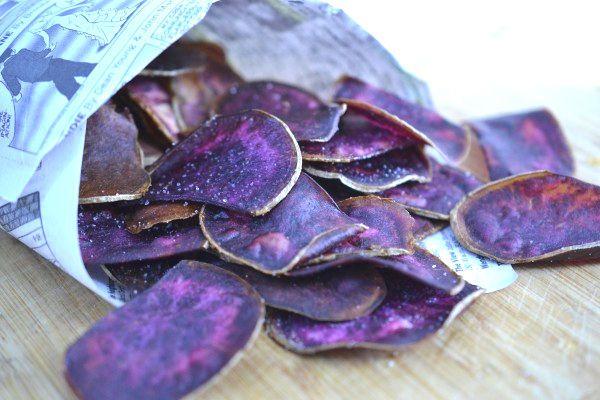 Purple Potato Chips Purple Food Purple Potatoes Purple
