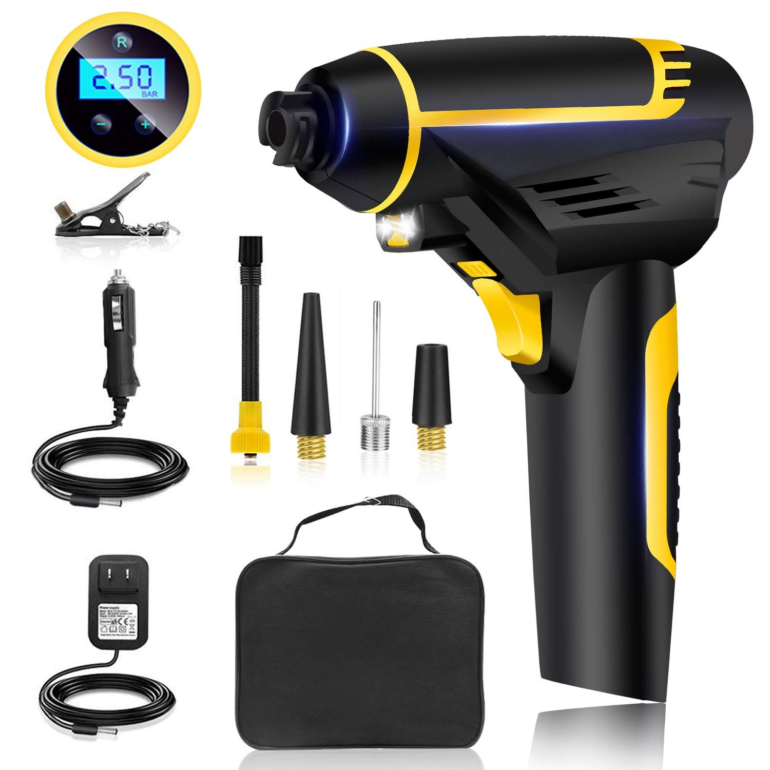 Automatic Cordless Tire Inflator Portable Hand Held