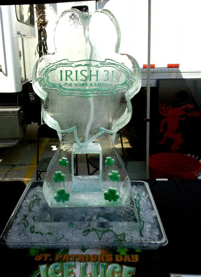 St Patrick S Day Themed Ice Luge