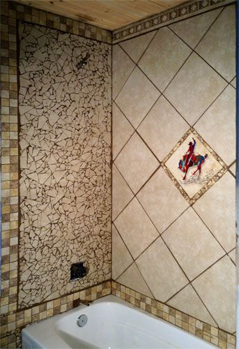 Western wildlife tile ideas kitchen backsplash for Native american tile designs