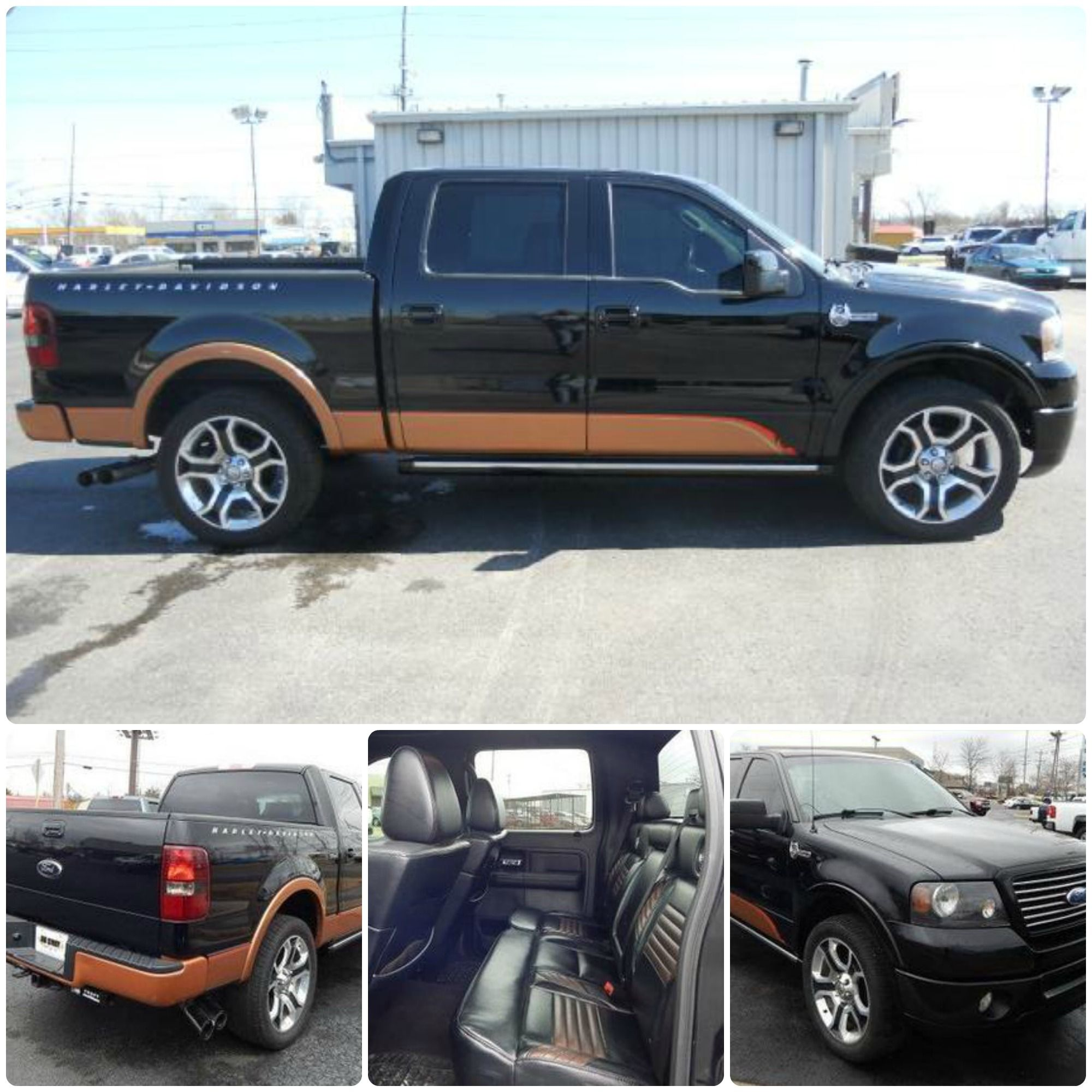 Ford Friday 2008 F 150 Harley Davidson Supercrew 4x4 Leather Limited Edition Custom Wheels This Is A One Of Kind Truck In Great
