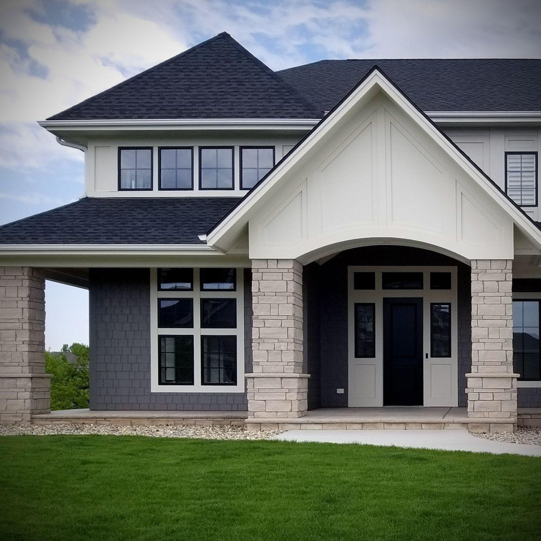 Modern Craftsman Exterior Veneer Stone Home Buechel Stone