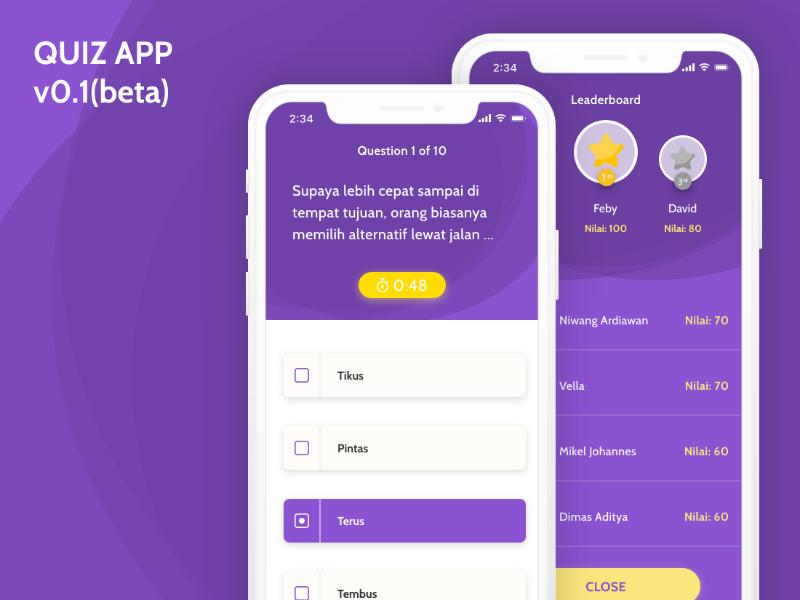QUIZ APP | Moods | Quiz design, App ui design, Web design quotes