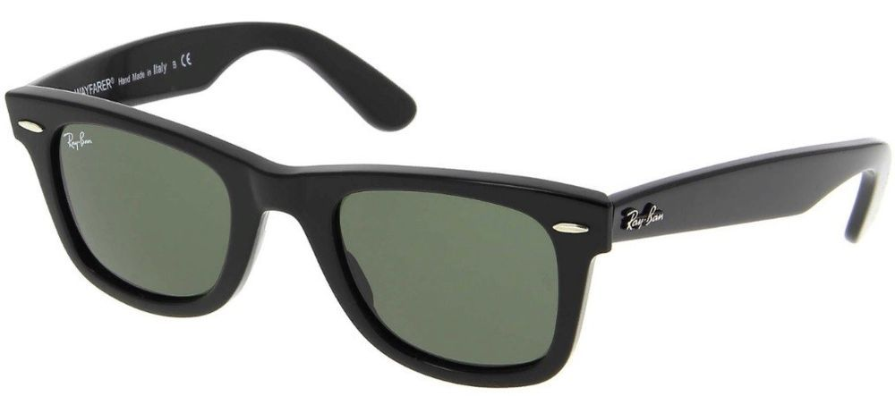 Sunglasses Ray Ban Wayfarer RB2140 901 Black Frame Green G15 Gradient Lens  50 mm  fashion 9616af7f24