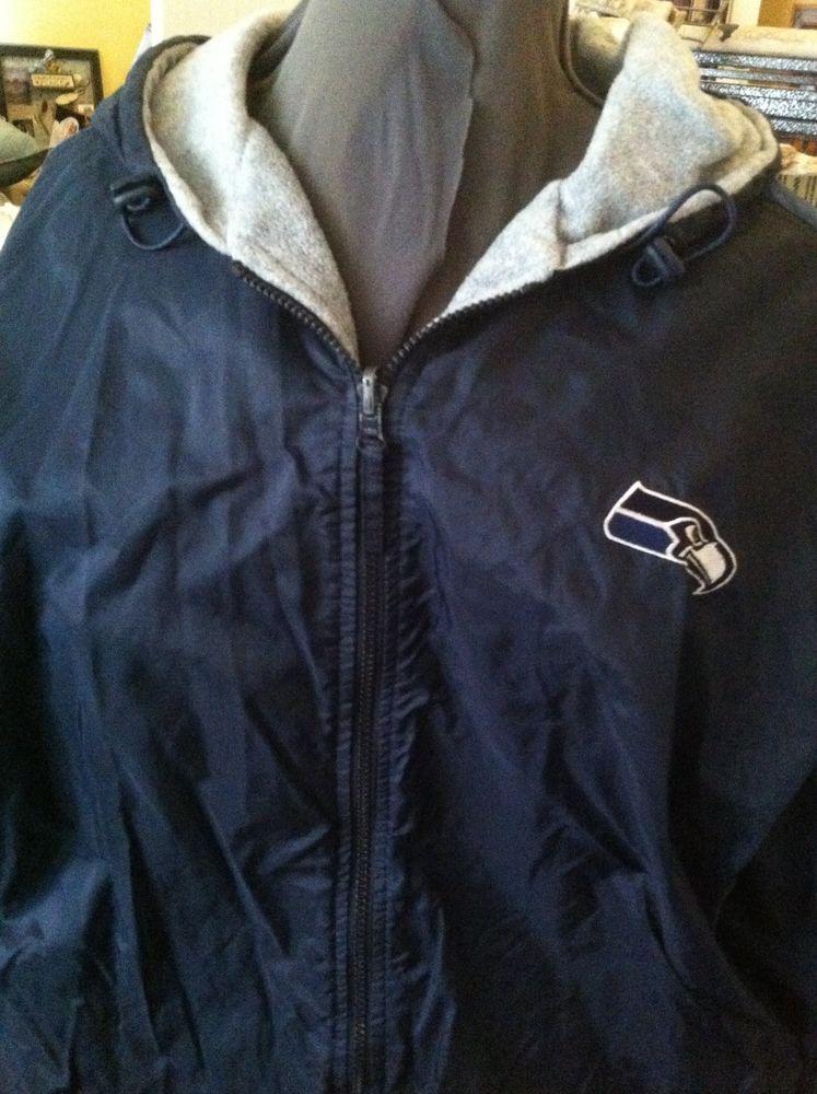 on sale 98a03 87795 Seattle Seahawks Men's XLarge Reversible Jacket! NICE! Rain ...