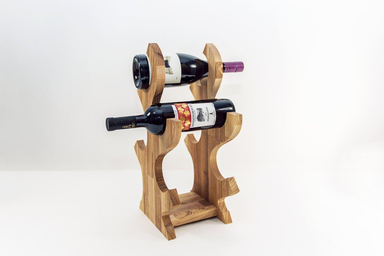 Support de vin en bois Support de vin Support de bouteille de vin en bois titulaire Devi décor ...