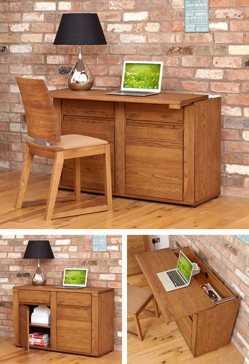 Olten Hideaway Desk Sideboard Hide Away Office Storage Furniture Home
