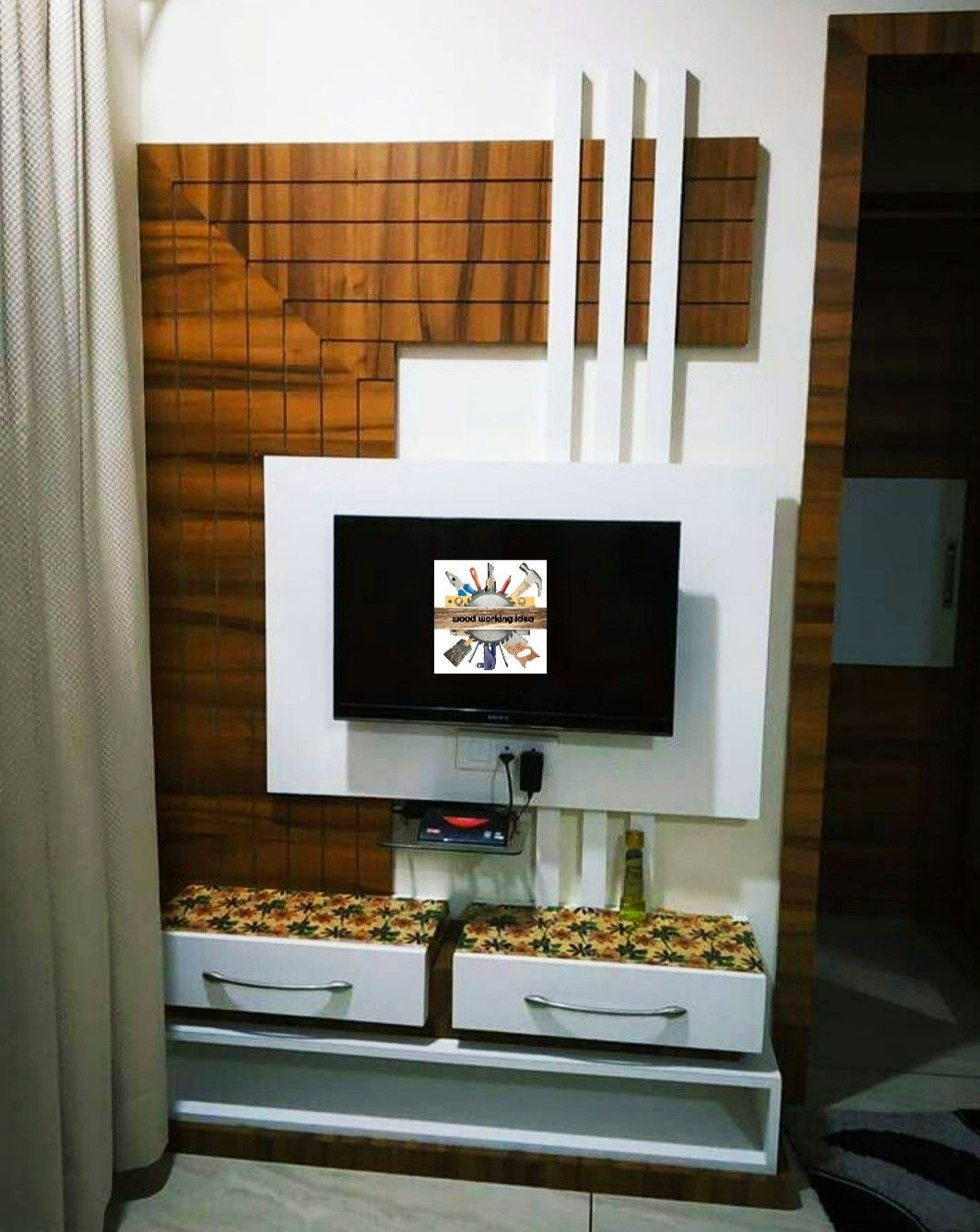 Pin By Wood Working Idea On Lcd Units Wall Tv Unit Design Tv