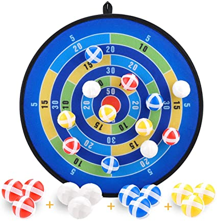 Hook and Loop Dart Board and Darts Kids Family Toys 2020