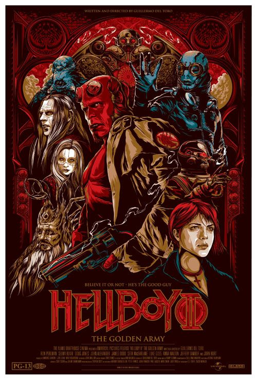 """""""Hell Boy II"""" By Ken Taylor, great details... and I still love that animated storytelling sequence in the film more than the rest of the film itself."""