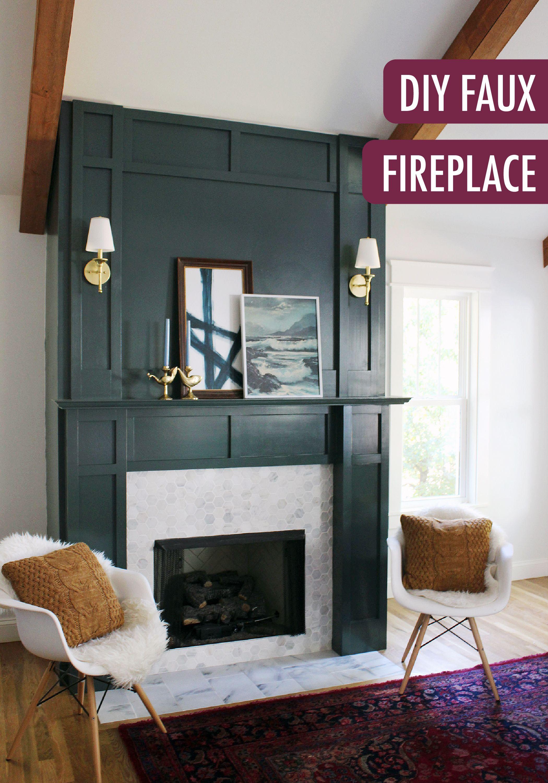 Diy Faux Fireplace Surround Faux Fireplace Fireplace