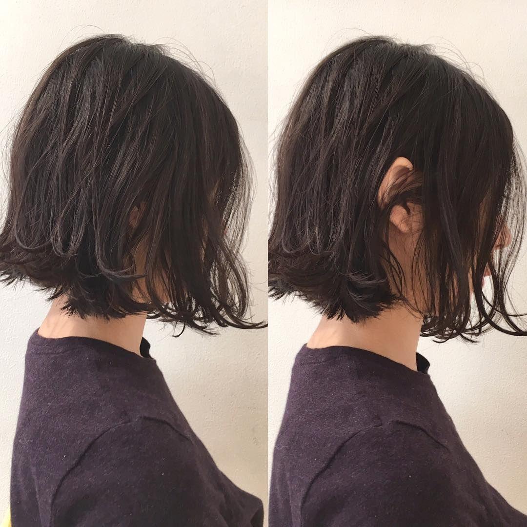 セミロングの大人ヘアアレンジ集 黒髪でもこダサくないハーフアップや