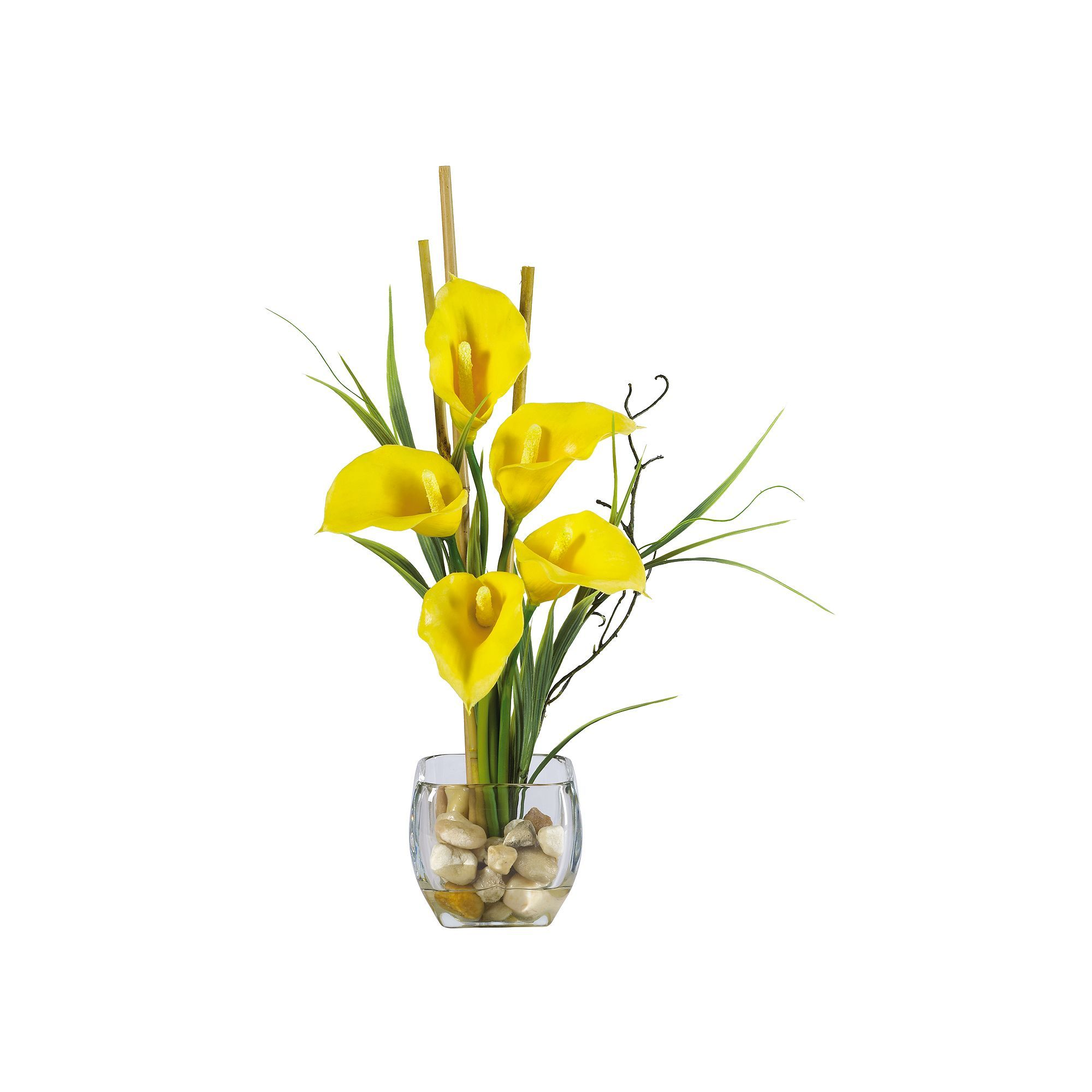 Nearly Natural Silk Calla Lily Flower Arrangement Multicolor