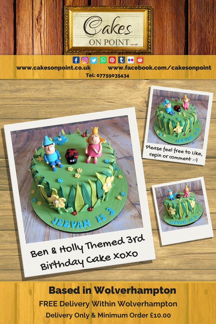 Ben Amp Holly Themed 3rd Birthday Cake