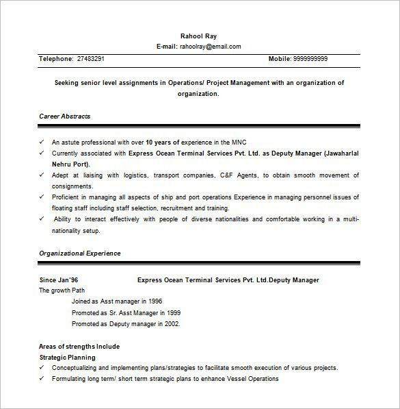 senior project manager word free   senior project manager resume sample   making a resume is