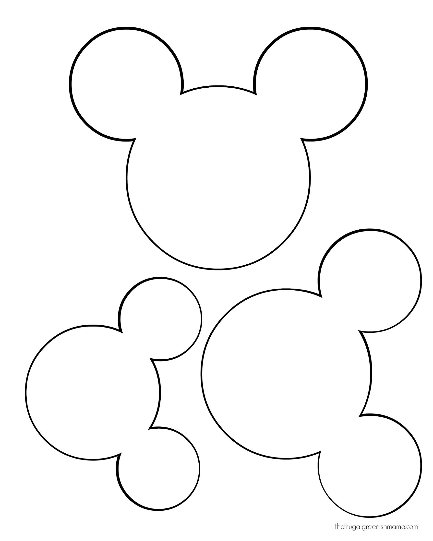 Mickey head template.   Google Drive | Cricut cut files