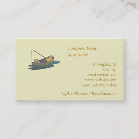 Lazy Boat Day Fishing Business Card Template Trending Zazzle Designs By Hightonridley