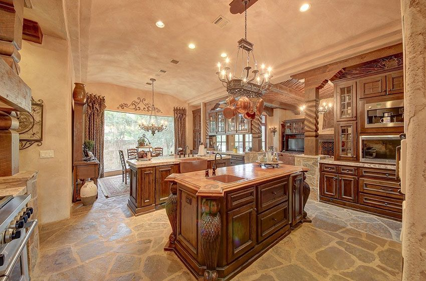 23 Beautiful Spanish Style Kitchens Design Ideas  Granite Fair Stone Floor Kitchen Design Inspiration